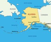 Alaska - vectorkaart van land stock illustratie