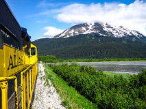 Alaska. View from the train in Alaska Stock Image