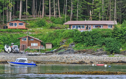 Alaska - Waterfront House Shelter Island Royalty Free Stock Image