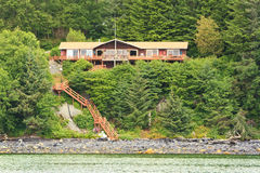 Alaska - Waterfront Living Auke Bay Royalty Free Stock Photos