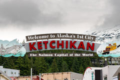 Alaska Welcome Ketchikan Sign Royalty Free Stock Photos