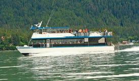 Alaska -  Whale Watching Boat Auke Bay Juneau Stock Image
