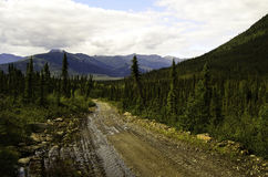 Alaska wilderness hike Stock Images
