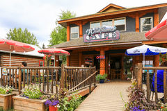 Alaska the Wildflower Cafe Downtown Talkeetna Royalty Free Stock Photography