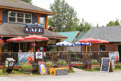 Alaska the Wildflower Cafe Talkeetna Stock Photo