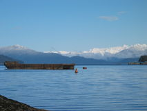Alaska-Winter-Szene Stockfotos