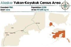 Alaska: yukon spisu ludności teren royalty ilustracja