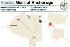 Alaska: Zarząd miasta zakotwienie ilustracja wektor