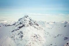 Alaskabo berg i vinter Royaltyfria Bilder