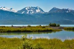 Alaskabo berg sjö Royaltyfri Fotografi