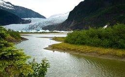 alaskabo glaciär Arkivbild