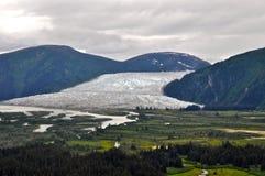Alaskabo glaciärer och berg Royaltyfria Bilder