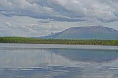 alaskabo lake royaltyfri fotografi