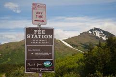 Alaskabo parkera avgift Fotografering för Bildbyråer