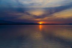 alaskabo solnedgång Fotografering för Bildbyråer
