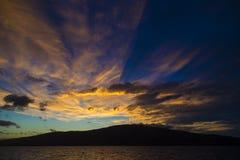 alaskabo solnedgång Royaltyfri Bild