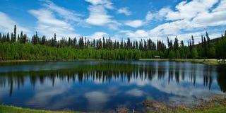 Alaskabo tältplats Royaltyfria Bilder