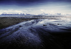 Alaskan beach at low tide Royalty Free Stock Photography