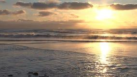 Alaskan beach sunset stock video