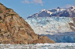 Alaskan coastal glacier royalty free stock photography
