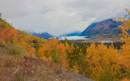 Alaskan fall. The Mat-Su glacier on a cold fall day in Alaska Stock Images