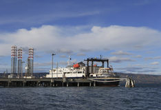 Alaskan Ferry at Dock Stock Images