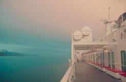 Alaskan Ferry at Sunset Stock Photography