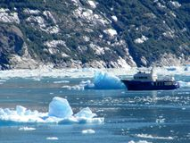 Alaskan fishing vessel - Tracy Arm fjord Stock Images