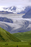 Alaskan Glacier. Photo of a glacier in the Alaska Range near Delta Junction, Alaska stock photos