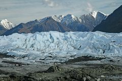 Alaskan Glacier. Extreme landscape in Alaska wilderness stock photos