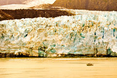 Alaskan Glacier and Boat Stock Images