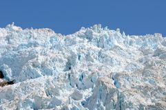 Alaskan Glacier Ice. Blue Tinted Glacier Ice in Alaska Stock Photography