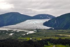Alaskan glaciers and mountains Royalty Free Stock Images