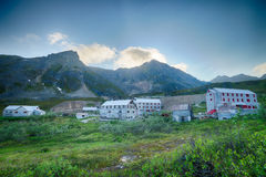 Alaskan Gold Rush Town Royalty Free Stock Photography