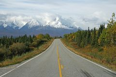 Alaskan Highway Royalty Free Stock Photos