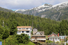 Alaskan houses Stock Photo