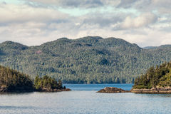 Alaskan Inside Passage Islands Royalty Free Stock Photography