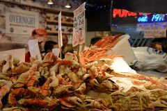 Alaskan king crab claws for sale royalty free stock image