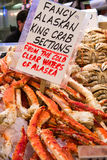 Alaskan King Crab on Ice Stock Photography