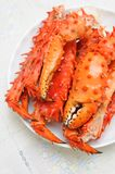 Alaskan king crab legs Stock Images