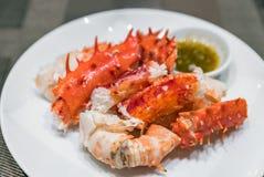 Alaskan king crab meat Royalty Free Stock Image