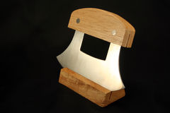 Alaskan Knife. Traditional Alaskan Ulu knife used mainly for cleaning fish royalty free stock photos