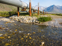 Alaskan Landscape. Beautiful Alaskan landscape with Alyeska pipeline Stock Photography