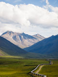 Alaskan Landscape. Beautiful Alaskan landscape with Alyeska pipeline Royalty Free Stock Image