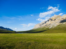 Alaskan Landscape. Beautiful Alaskan tundra with mountains and dramatic sky Stock Photo