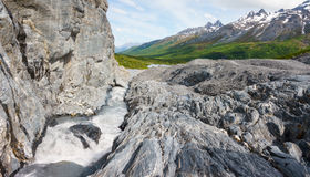 Alaskan Lanscape. View from Worthington Glacier in Alaska Stock Photo