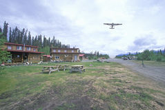Alaskan Lodge in St. Elias National Park, Wrangell, Alaska Stock Photo