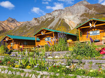 Alaskan Mountain Cabins Stock Photos