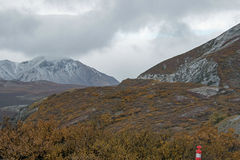 Alaskan Mountain Landscape at First Snow Royalty Free Stock Images