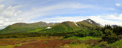 Alaskan mountain panoramic view Royalty Free Stock Photo